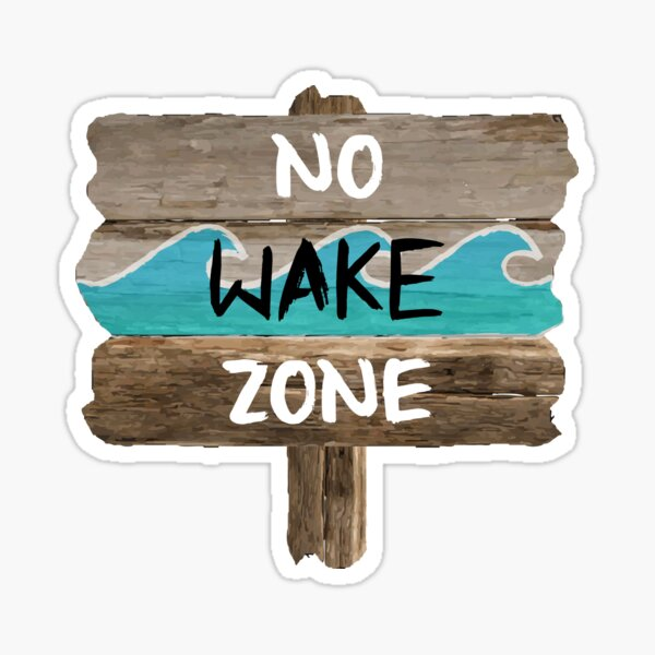 NO WAKE ZONE Sticker