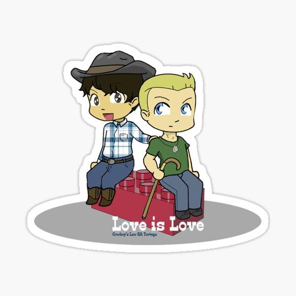 Cowboy's Law Chibis! Sticker