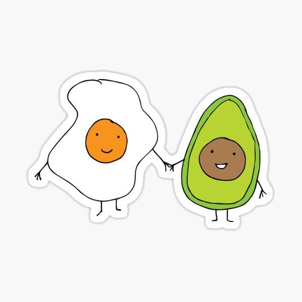 Egg And Avocado Friends Sticker