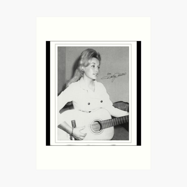 Retro Dolly Parton's Young Gifts Art Print