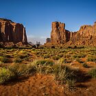 Striking scene at Monument Valley by Funkylikeabee