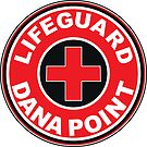 LIFEGUARD DANA POINT SURFING CALIFORNIA SURFING BEACH SURFBOARD by MyHandmadeSigns