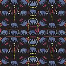 Patterned Elephants  by Kanika Mathur  Design