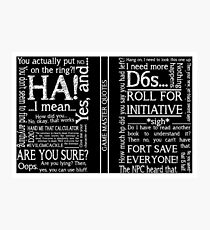 Game Master Quotes Photographic Print