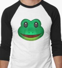 Frog Face Emoji Men's Baseball ¾ T-Shirt