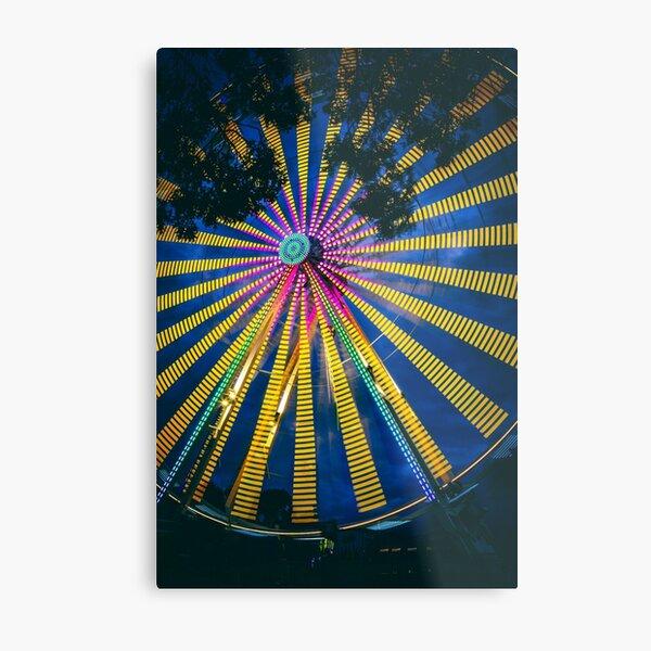 Close up of Ferris Wheel Metal Print