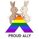 Skip & Pip (aka the Pride Bunnies) celebrate LGBT Allies by Catherine Dair