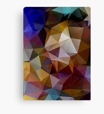 Abstract background of triangles, polygon wallpaper in retro bright colors. Canvas Print