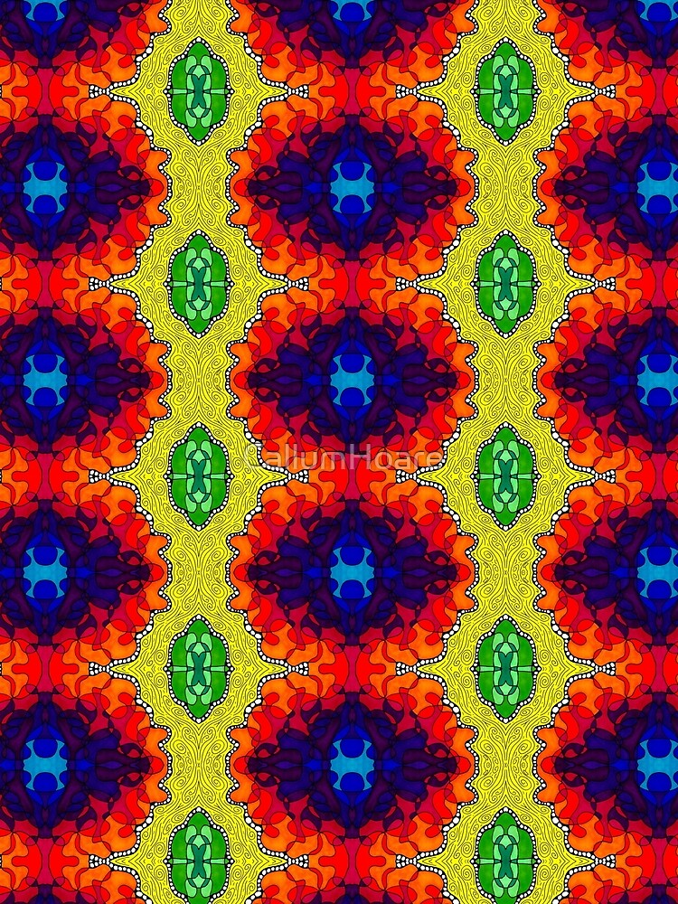 Psychedelic Abstract colourful work S7(Tile) by CallumHoare