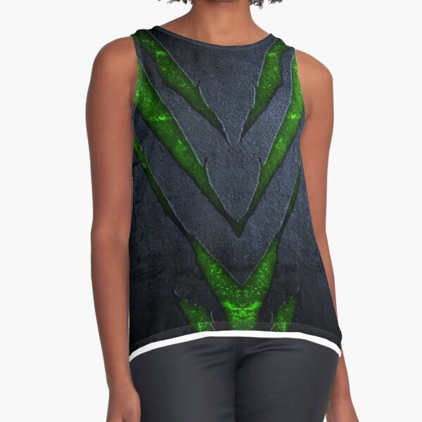 Clawed Texture Sleeveless Top