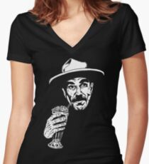 I Drink Your Milkshake (I drink it up) Women's Fitted V-Neck T-Shirt