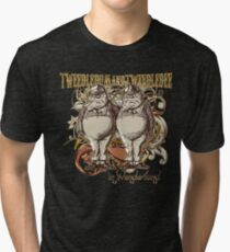 Tweedledum & Tweedledee Carnivale Style - Gold Version Tri-blend T-Shirt