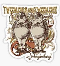 Tweedledum & Tweedledee Carnivale Style - Gold Version Sticker