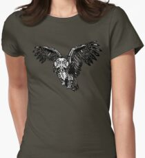Skeletowl BW Women's Fitted T-Shirt