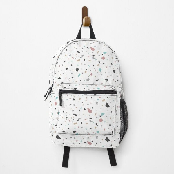 Terrazzo grey & pastels  Backpack