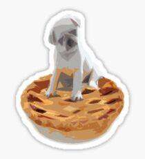 Pug pIe Sticker