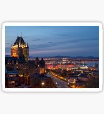 Quebec City Lights Sticker