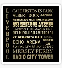 Liverpool Famous Landmarks Sticker