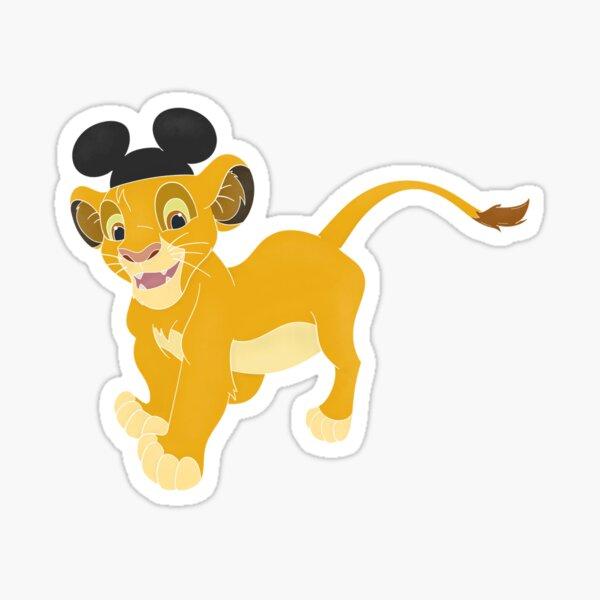 Simba With Mickey Ears Sticker