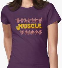 M.U.S.C.L.E Muscleman Muscle men Womens Fitted T-Shirt