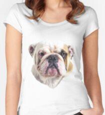Camiseta entallada de cuello redondo Cabeza de Bulldog Inglés