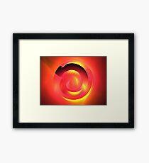 Magenta Curve Framed Print