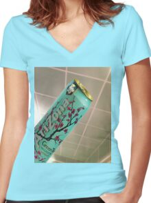 No Love Deep Arizona Women's Fitted V-Neck T-Shirt