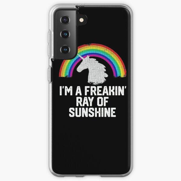 I'm A Freaking Ray Of Sunshine Funny Rainbow Unicorn Gift Samsung Galaxy Soft Case