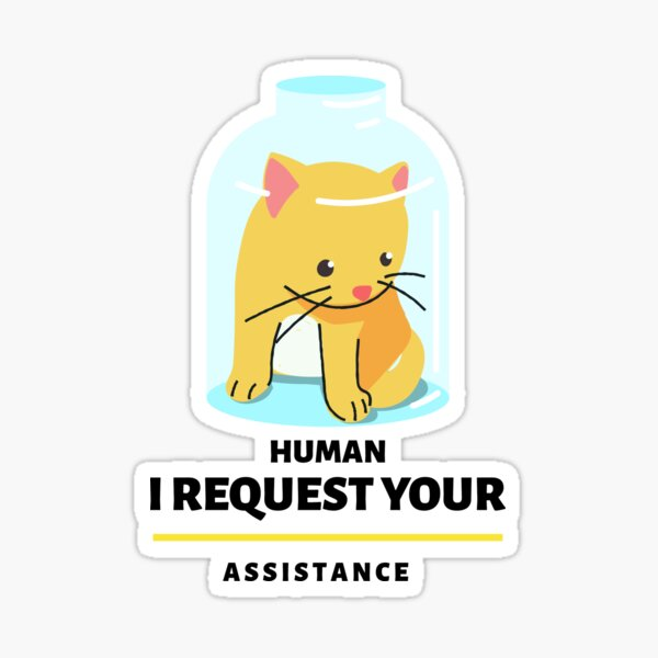 Lets help cats as much as we can Sticker