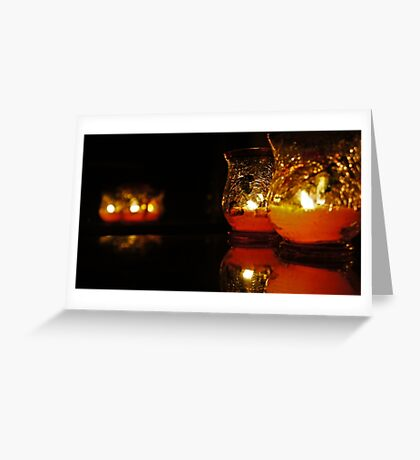 Autumn Candle Light Greeting Card
