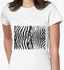Zebra Skin Pattern Women's Fitted T-Shirt