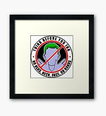 Think Before You Ink! Framed Print