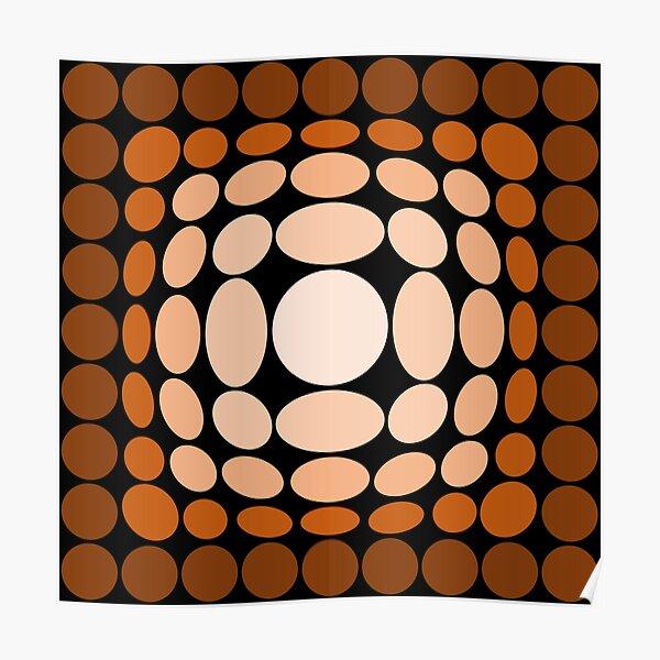 Vasarely Homage 210325A - Earth Circles XL Poster