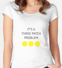 A Three Patch Problem Women's Fitted Scoop T-Shirt