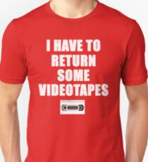 American Psycho Quote - I Have To Return Some Videotapes T-Shirt