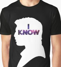 Star Wars Han 'I Know' White Silhouette Couple Tee  Graphic T-Shirt