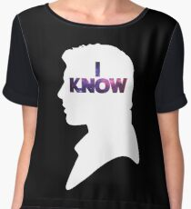 Star Wars Han 'I Know' White Silhouette Couple Tee  Chiffon Top