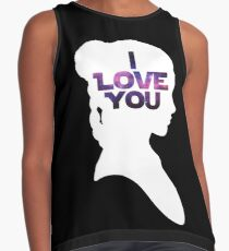 Star Wars Leia 'I Love You' White Silhouette Couple Tee Contrast Tank