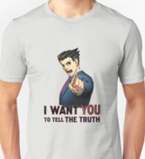 Phoenix Wright Wants YOU to Tell the Truth (transparent) T-Shirt
