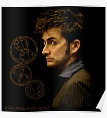 Tenth Doctor with Gallifreyan, Doctor Who Poster