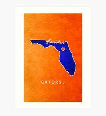 Florida Gators Art Print