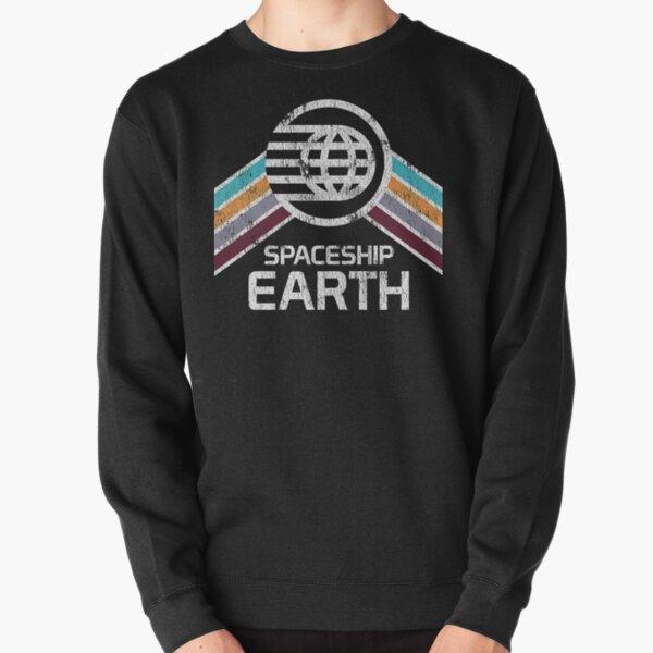 Spaceship Earth Logo in Vintage Distressed Retro Style Pullover Sweatshirt