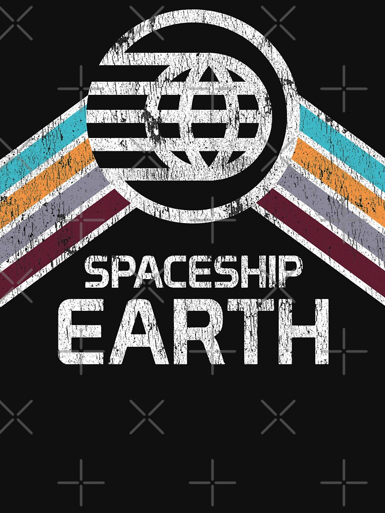Vintage Spaceship Earth with Distressed Logo in Retro Style | Unisex T-Shirt