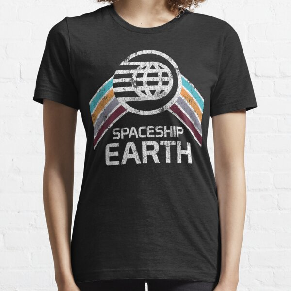 Spaceship Earth Logo in Vintage Distressed Retro Style Essential T-Shirt