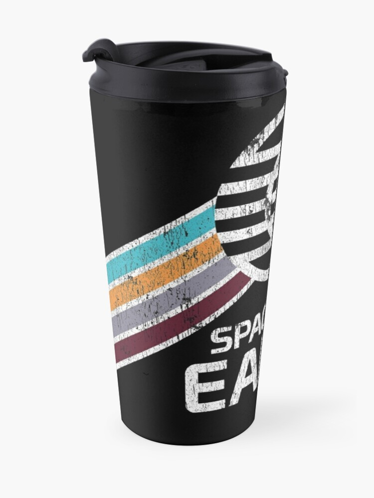 Alternate view of Vintage Spaceship Earth with Distressed Logo in Retro Style Travel Mug