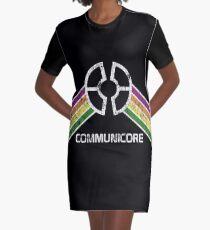 Communicore Logo im Vintage Distressed Stil T-Shirt Kleid