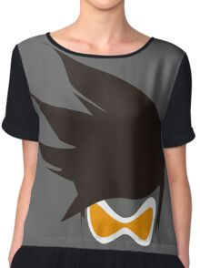Tracer Hair and Goggles Vector Chiffon Top