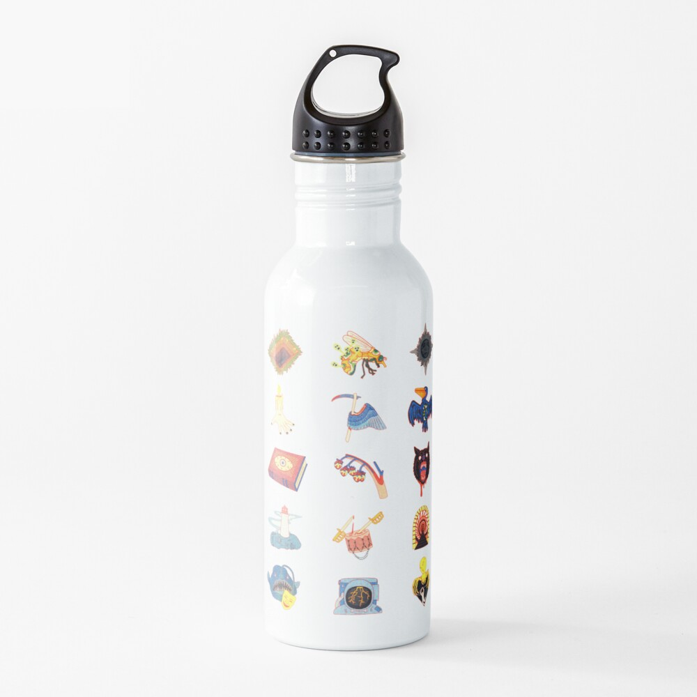 15 Fears Risograph Icons Water Bottle
