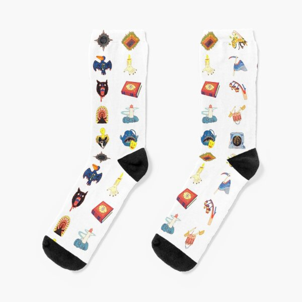 15 Fears Risograph Icons Socks