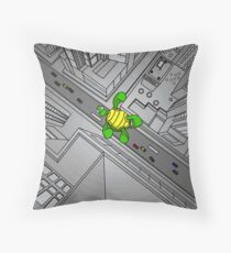 Falling Tortoise Throw Pillow